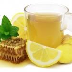 Чай, имбирь, мед и перец против простуды