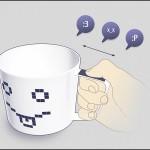 Эмоциональная чашка для кофе