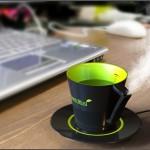 Увлажнитель воздуха из недопитого кофе