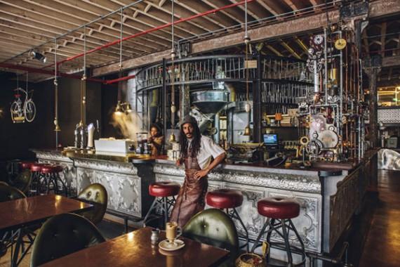 кофейню в стиле стимпанк