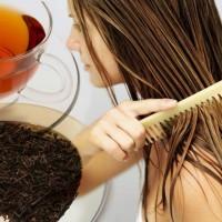 Уход за волосами при помощи чая