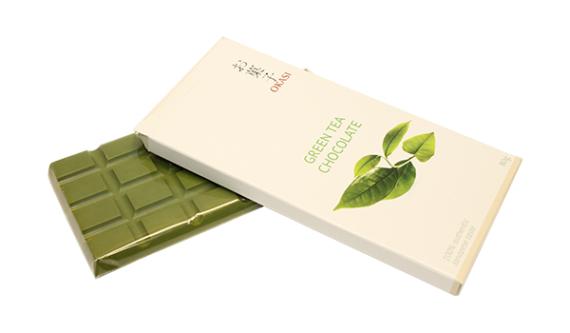Зелёный чайный шоколад Okasi!