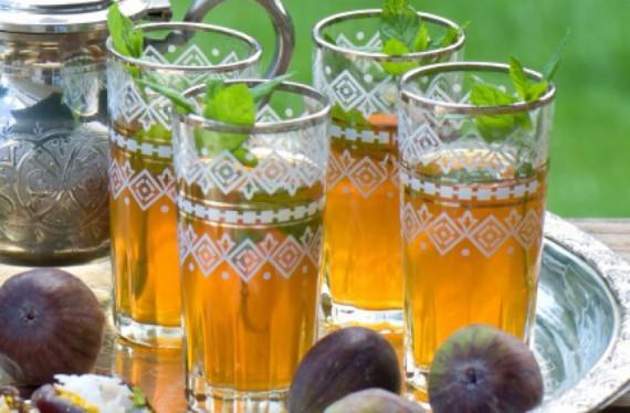 Марокканский зеленый чай с мятой