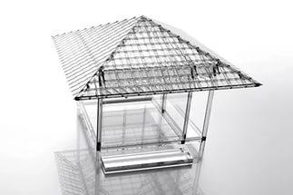 чайный домик из стекла